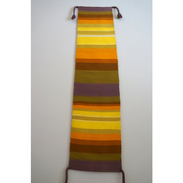 Mid-Century Handwoven Wall Hanging - Image 4 of 6