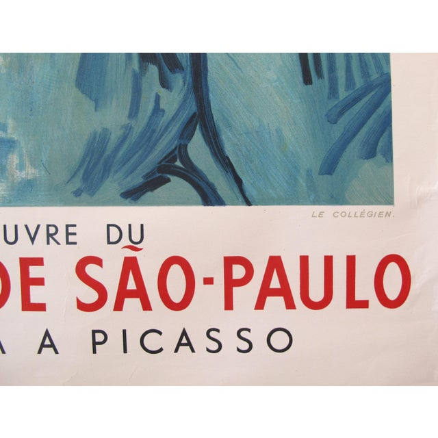 Paper 1954 French Exhibition Poster, Masterpieces From the Sao Paolo Museum of Art - Van Gogh For Sale - Image 7 of 8