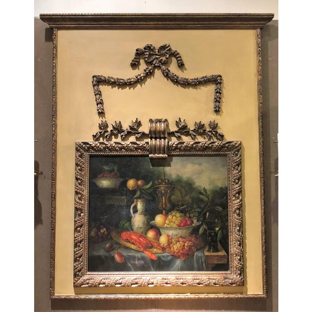 Antique French 19th Century Louis XVI Panel Trumeau. For Sale - Image 4 of 4