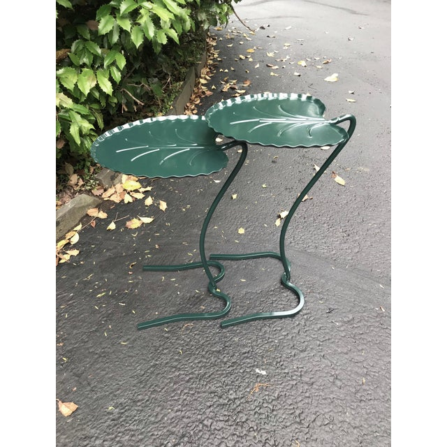 """1950s Vintage Salterini """"Lily Pad"""" Nesting Patio Tables - a Pair For Sale - Image 12 of 12"""