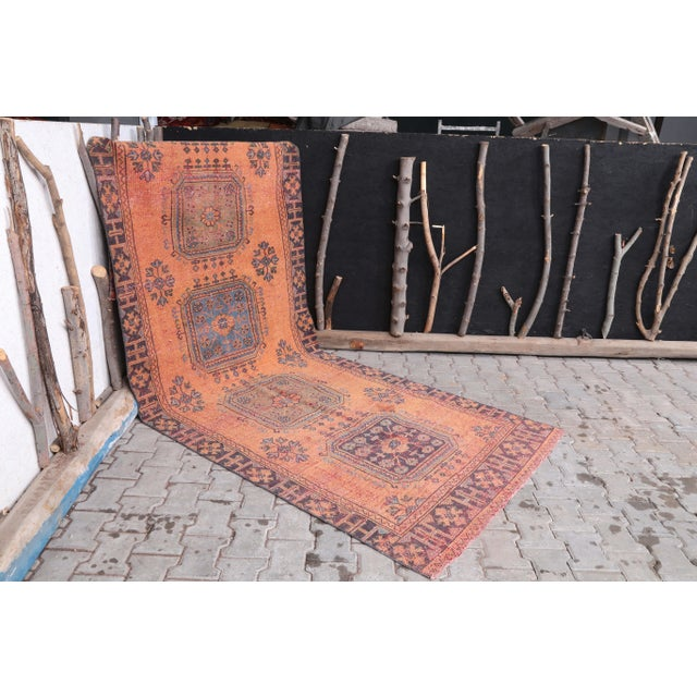 """1960's Vintage Turkish Hand-Knotted Wide Runner Rug - 4'1"""" X 11'5"""" For Sale - Image 9 of 11"""
