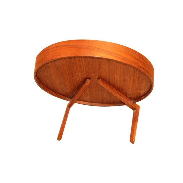 Mid Century Uno and Osten Kristiansson Teak Table Mirror Luxus Sweden For Sale - Image 9 of 12