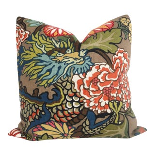 Schumacher Chiang Mai Dragon Pillow Cover For Sale