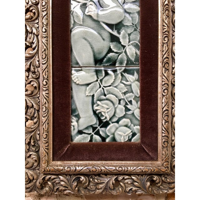 Late 19th Century Framed Tile Set by Isaac Broome - a Pair For Sale - Image 10 of 12