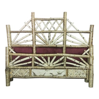 1990's Rustic Peter Winter Birch Bedframe