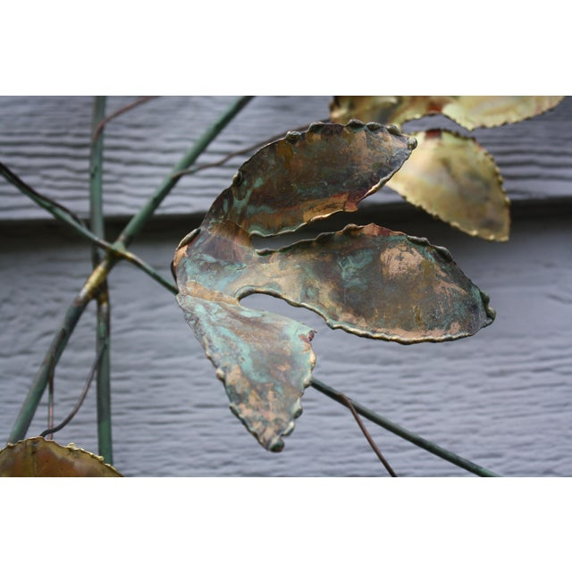 1969 Curtis Jere Mid Century Modern Metal Wall Sculpture Leafs, Signed For Sale - Image 10 of 13