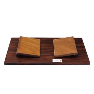 Folding Legs Serving Tray Rosewood and Tile Top, Denmark