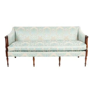 Late 19th Century Mahogany Framed Goose Down Filled Sofa For Sale