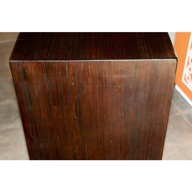 Bamboo Veneered Grained Brown Console For Sale In Palm Springs - Image 6 of 10
