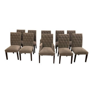 Restoration Hardware Dining Chairs - Set of 10 For Sale