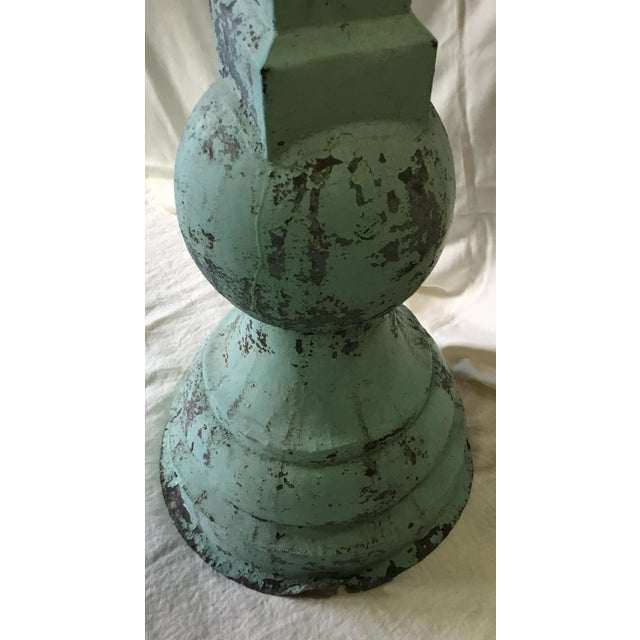 Turquoise 1930s Vintage Large Standing Metal Cross / Crucifix For Sale - Image 8 of 13