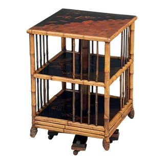 English Bamboo Revolving or Rotating Library Bookcase, Circa 1870-1910 For Sale