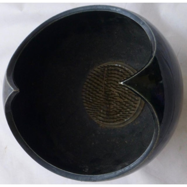 Mid-Century Modern Black Winged Studio Pottery Vase For Sale - Image 3 of 11