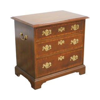 Baker Chippendale Style Mahogany Small 3 Drawer Accent Chest For Sale