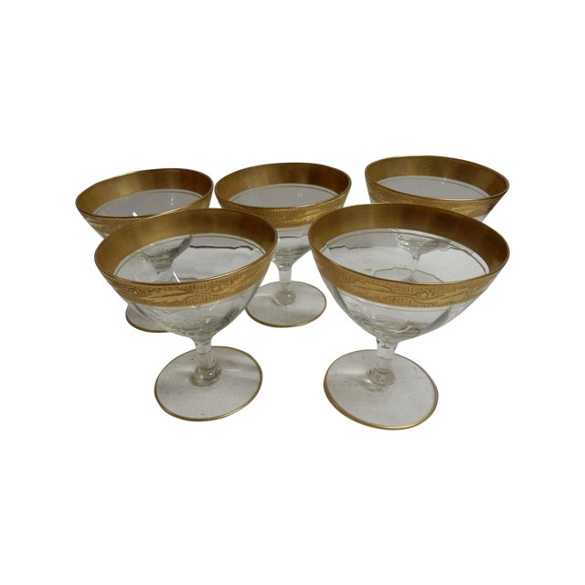 Gold Rimmed Coupes - Set of 5 - Image 1 of 4