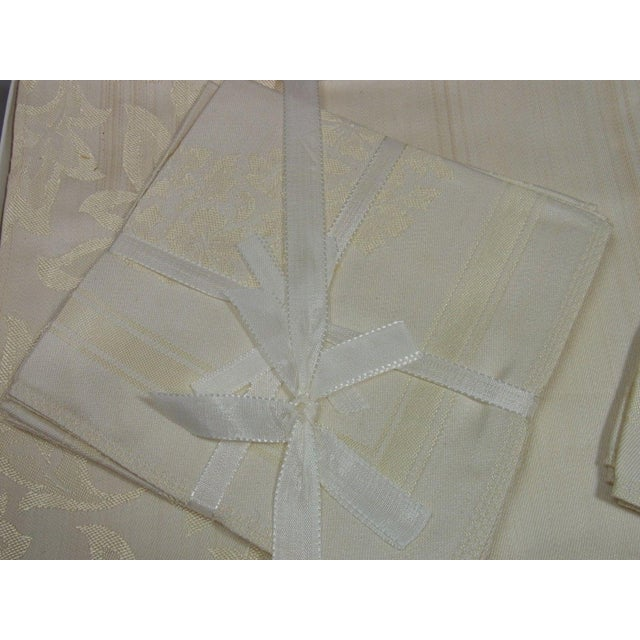 Antique Boxed German Linen Tablecloth & 6 Napkins - Image 4 of 10