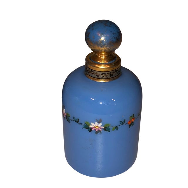 1900 - 1909 Antique Opaline Perfume Bottles - a Pair For Sale - Image 5 of 8
