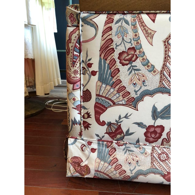 Vintage 1970s Down Sofa in Fabulous Print Upholstery For Sale - Image 4 of 13