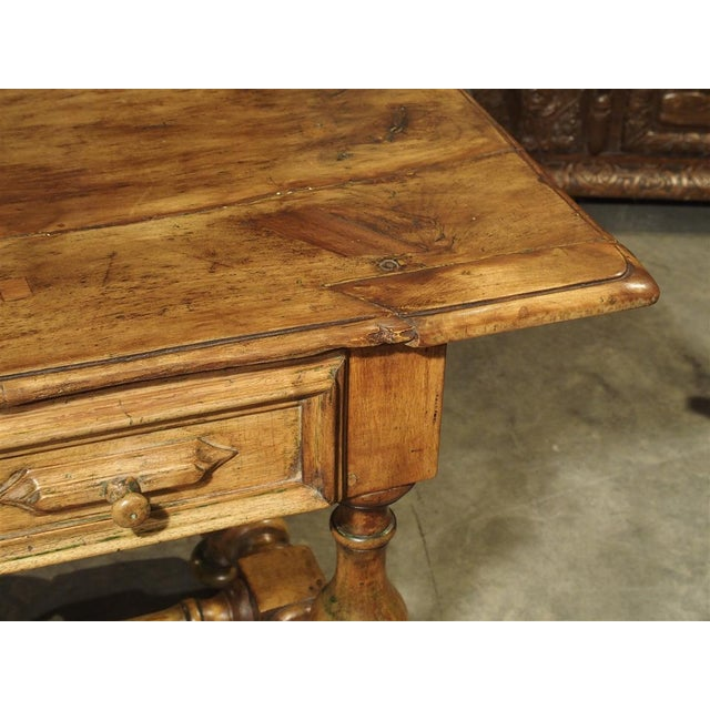 17th Century Basque Country Writing Table With Inset Star For Sale - Image 12 of 13