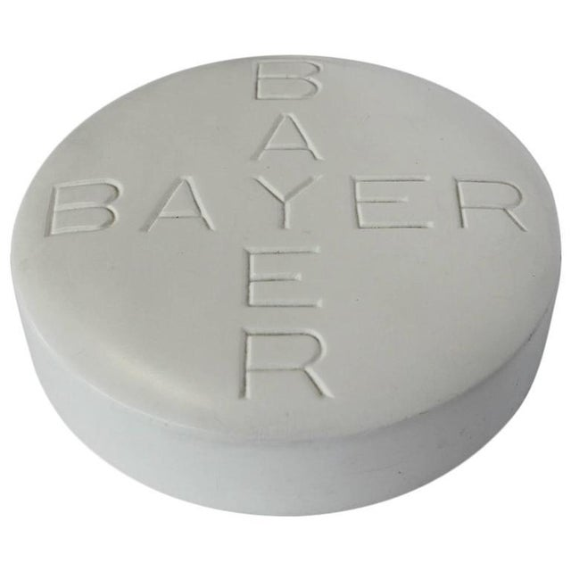 Industrial 1950s Bayer Pill Advertising Sign For Sale - Image 3 of 3
