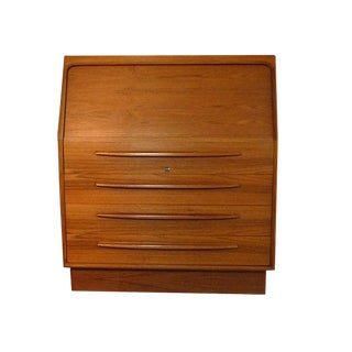 20th Century Danish Modern Bernhard Pedersen Teak Secretary Desk or Vanity For Sale