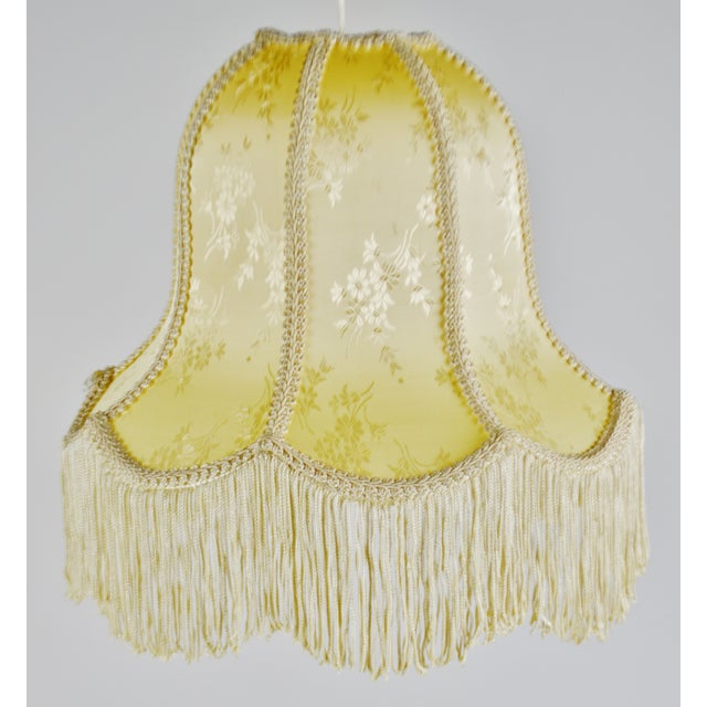 Vintage Victorian Style Bell Shaped Fringe Lamp Shade For Sale - Image 12 of 13