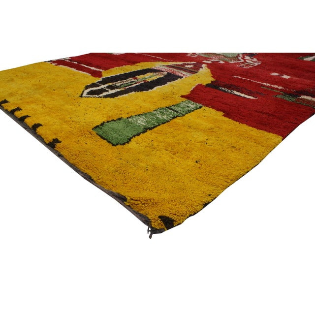 Moroccan Contemporary Abstract Design Berber Rug - 8′8″ × 11′2″ - Image 2 of 6