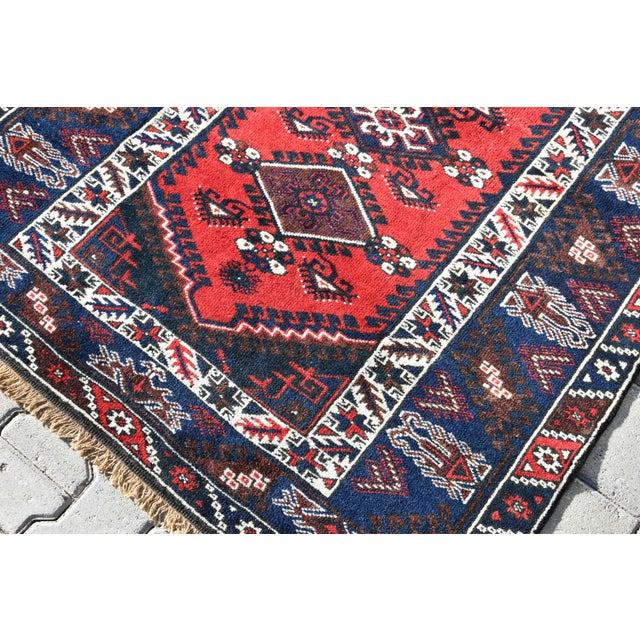 4x6 feet 1980s Turkish Oushak Aztec Anatolian Tribal Hand Knotted Wool Carpet Size: 4.2 x 5.7 ft ( 129 x 175 cm ) 50.8 x...