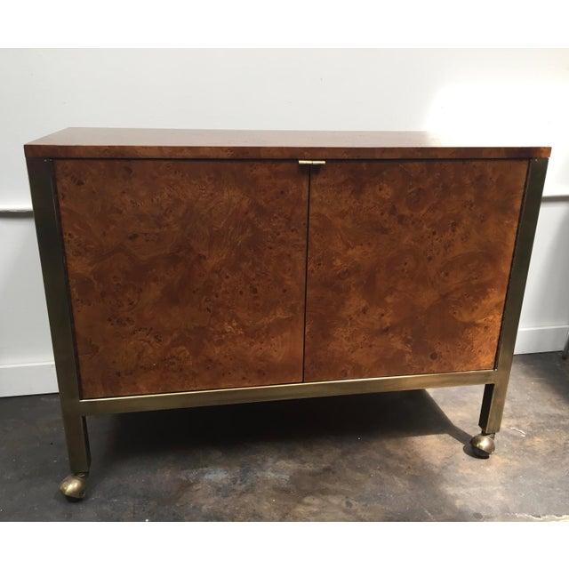 Tomlinson Burl Wood Bar Cart For Sale - Image 13 of 13