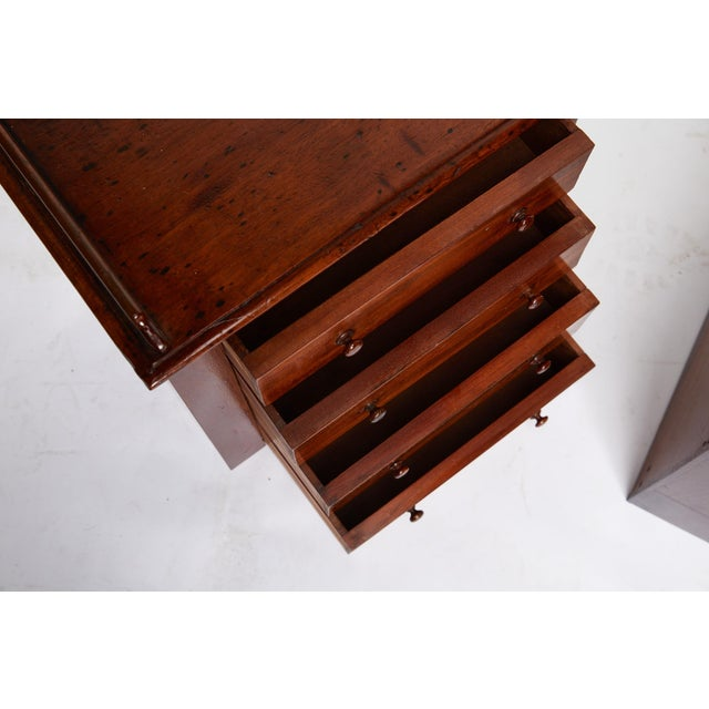 Wood Pair of Petite English Mahogany Chests For Sale - Image 7 of 10