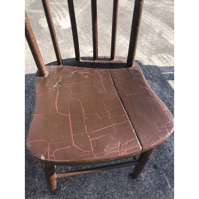 1940s Vintage Rustic Schoolhouse Chairs - a Pair For Sale - Image 5 of 12