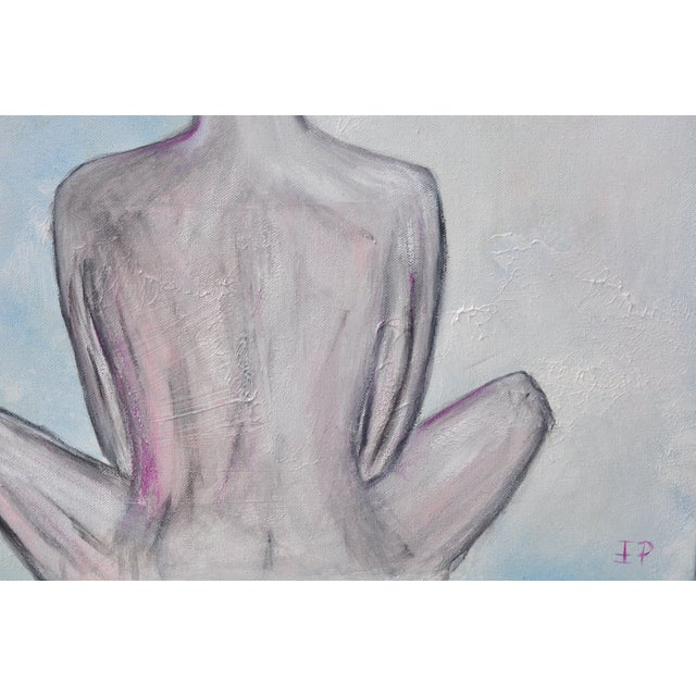 """Airy Nude"" Original Signed Female Figure Painting - Image 4 of 5"