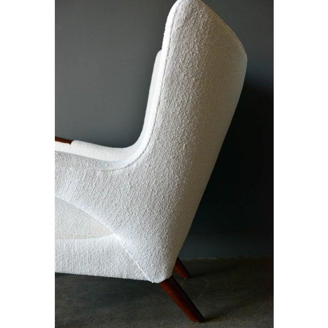 """Ivory 1950s Hans Wegner Model Ap19 """"Papa Bear"""" Chair For Sale - Image 8 of 13"""