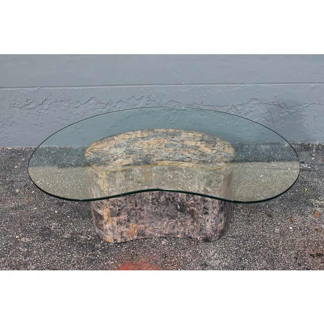 Mid-Century Kidney Shaped Tessellated Stone Coffee Table - Image 3 of 10