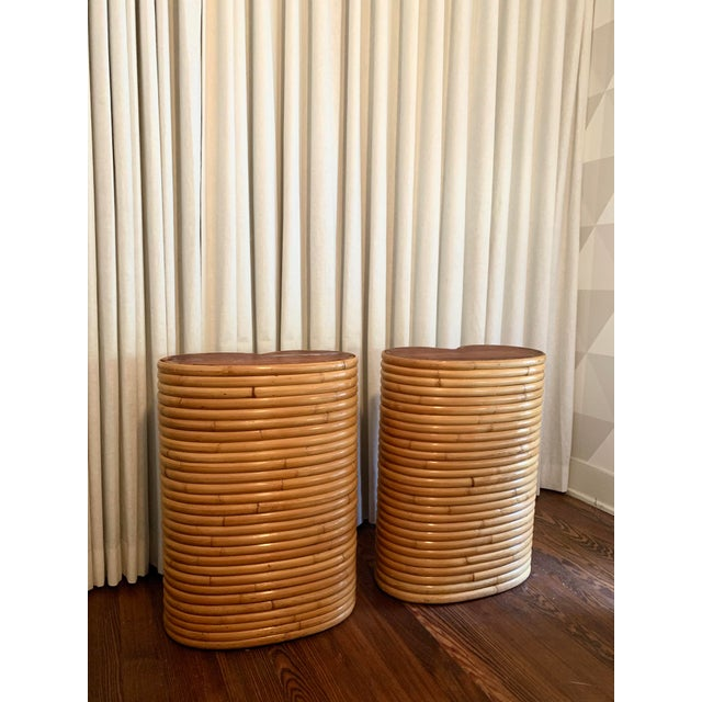 Boho Chic Boho Chic Bamboo Table Bases - a Pair For Sale - Image 3 of 5