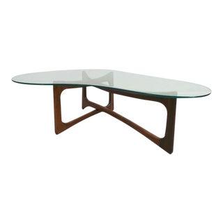 Mid Century Modern Adrian Pearsall Amoeba Shaped Glass Coffee Table For Sale