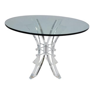 Vintage Lucite Round Dining Table