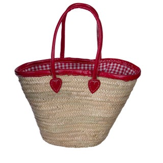 Red Picnic Basket with Cover