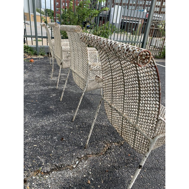 White French Garden Chairs - Set of 4 For Sale - Image 8 of 10