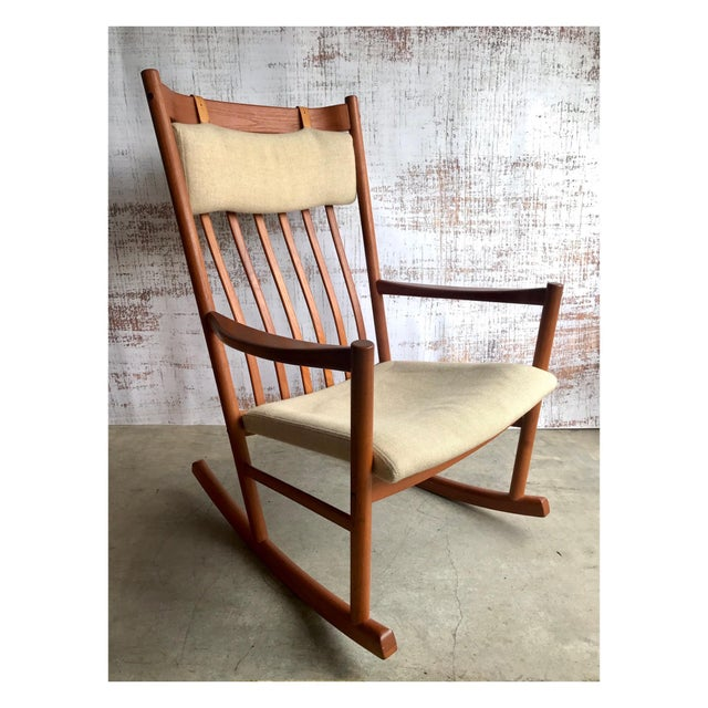 Hans Wegner Hans Wegner for Tarm Stole Rocking Chair For Sale - Image 4 of 4