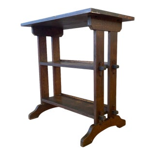 1910s Roycroft Little Journey Book Stand in Oak For Sale