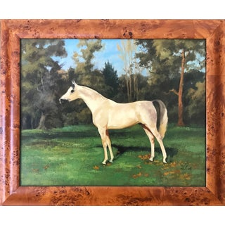 Impressionist Horse Portrait Oil on Board by Leland For Sale