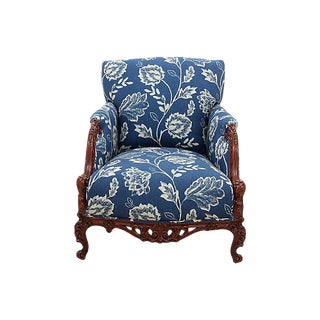 Rococo Marquise Bergere Chair For Sale