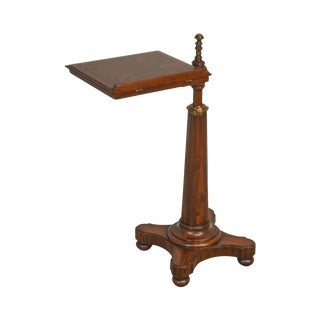 Maitland Smith English Regency Empire Style Flame Mahogany Pedestal Bookstand For Sale