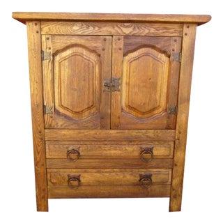 Vintage Mission Style Arts & Crafts Oak Cabinet Server For Sale
