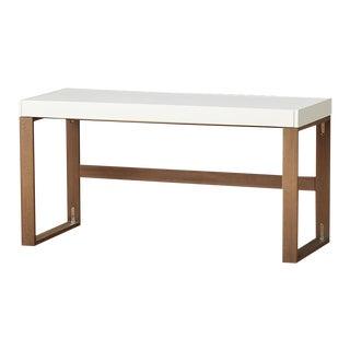 Minimalist CB2 Lacquered Oak Chamber Desk