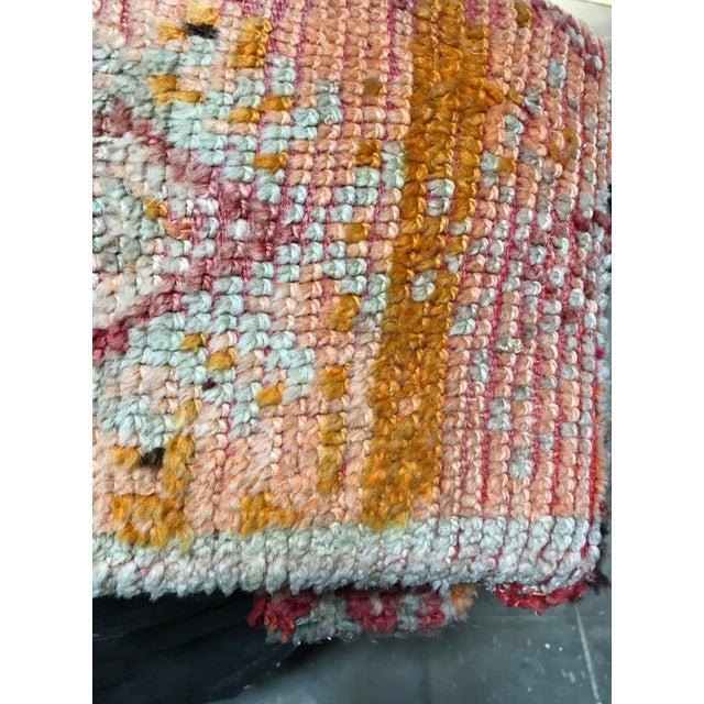Textile Vintage Turkish Over Dyed Rug Tribal Ottoman For Sale - Image 7 of 8