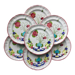 Italian Faience Hand-Painted Plates-Pv-Set 7