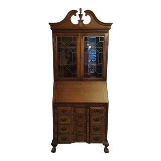 Antique Maddox Walnut Secretary Desk