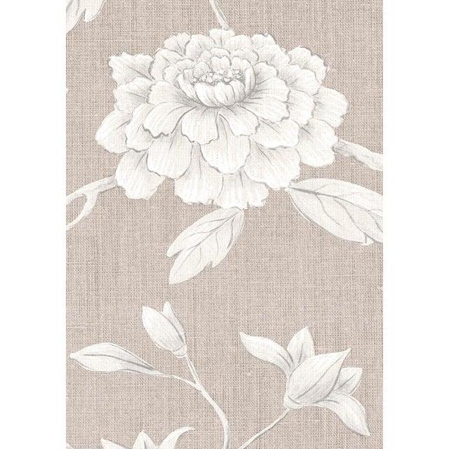 "English Lewis & Wood Jasper Peony Almond Bespoke Extra Wide 52"" Botanic Style Wallpaper For Sale - Image 3 of 5"